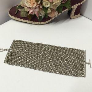 Amazing Vintage Silver tone Statement Bracelet